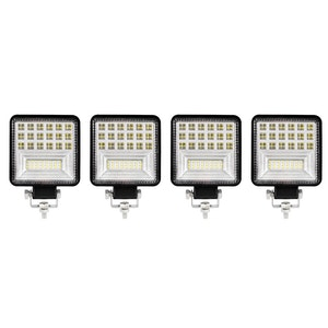 LIGHTFOX LIGHTFOX 4x 4inch Cree LED Work Light Spot Flood Square Fog Lamp Reverse Truck SUV 4X4