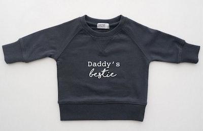 Daddy's Bestie Sweater - Charcoal