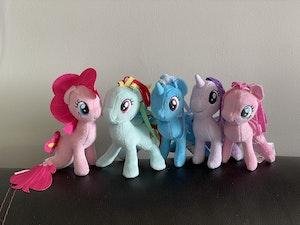 Small plush My Little Pony figures x5