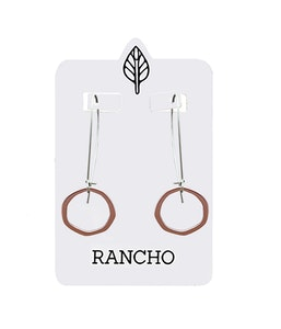 Fine Flat Ring Hook Earring