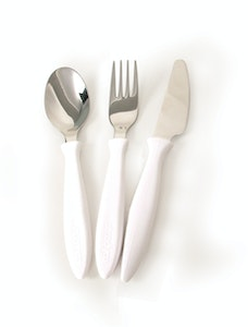 Steadyco Lets Eat Cutlery 3pcs White