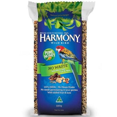 Harmony Wild Bird Harmony No Waste Seed Block Wild Bird Food Treats 330g Ctn x 6