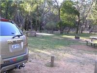 Tables Parks Vic fireplace and formed campsite