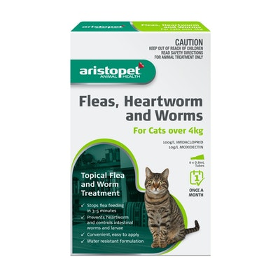 Aristopet Fleas, Heartworm & Worms For Cats over 4kg
