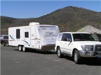 Serious fuel  test. Sawyer Hill stop Snowy Mts Hwy with GoSee Jayco Heritage 19.5l per 100km