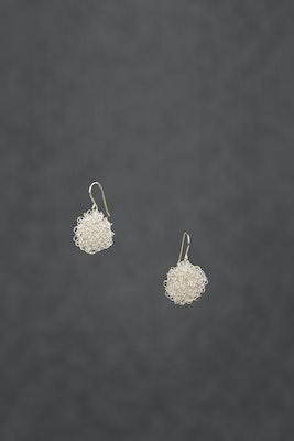 PAMdesigned Sterling Silver Pom Pom Wire Earrings - Treasure Earrings