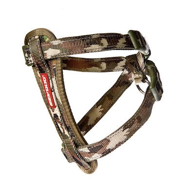 Ezydog  Camouflage Chest Plate  Dog Harness with Car Seatbelt Attachment