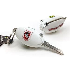 Creative Keys NRL Footy Flip Key Blank with Keyring LW4 - St George Illawarra Dragons