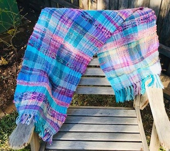 Sunset Blue Woven Wrap or Scarf