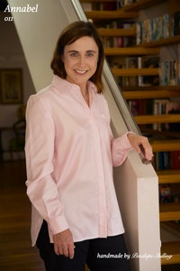 Annabel | Classic Shirt in Pale Pink Italian Cotton