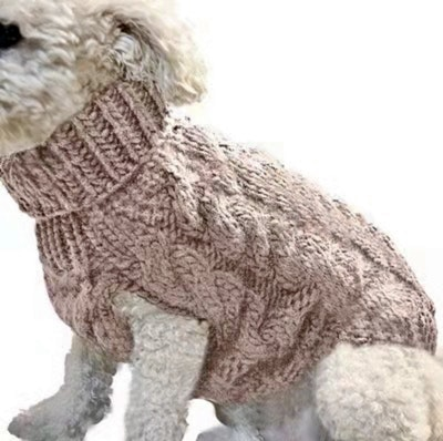 Indi Knitted Sweater Champagne | Daniel's Pet Emporium