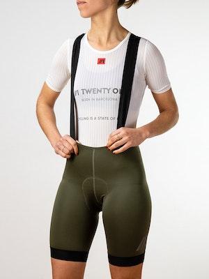Twenty One Cycling Factory Midweight culotte - DarkOliveGreen - Women