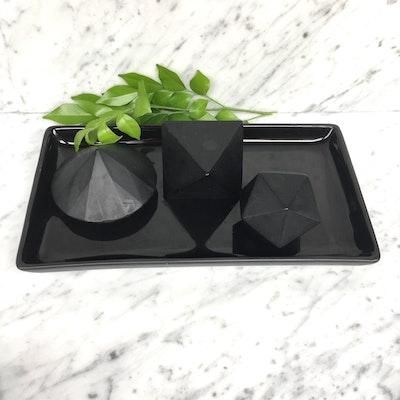 Arkara Accessories - Black Ceramic  Tray
