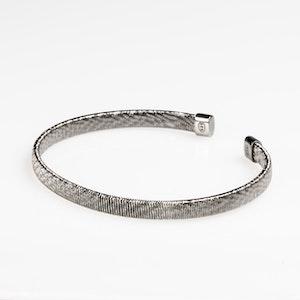I Dream of Silver Thick Diamond-Cut Bangle