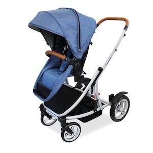 Babyhood Doppio Inline Stroller Single - Steel Frame 2017