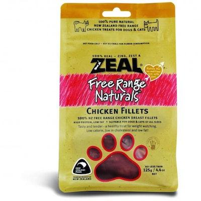 ZEAL FRN Zeal Free Range Naturals Chicken Fillets Dog Treats 125G