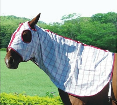 Capriole Equestrian Deluxe Rose & Aqua Summer Hood