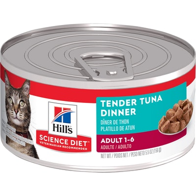 Hills Hill's Science Diet Tender Dinners Adult Tuna Wet Cat Food