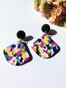 Paint Splatter - Drop earrings