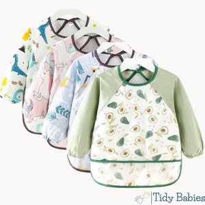 Tidy Babies  Toddler Long Sleeve Apron Smock Bib With Name Print