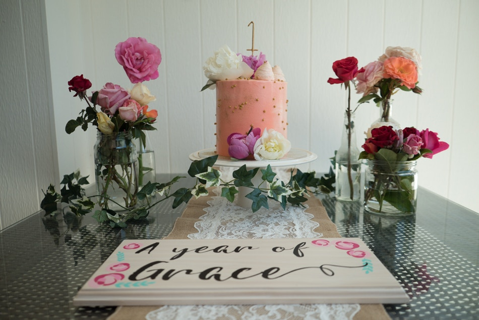 An Intimate (+ Pink) First Birthday