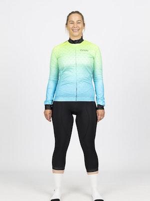 Fondo Women's Long Sleeve Fleece Cycling Jersey l Aurora