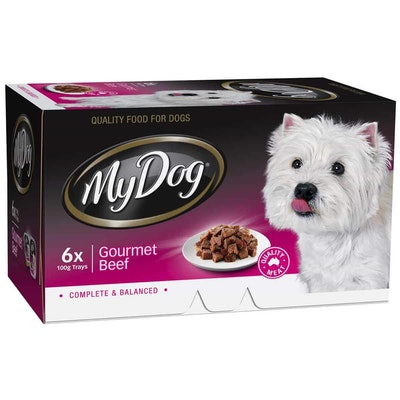 My Dog Chef Select Gourmet Beef Wet Dog Food 6x100G