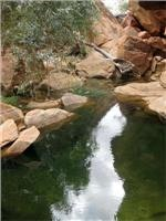 Rock pool in Well 17  area Canning Stock  Route