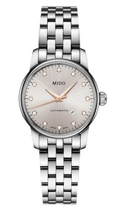 Mido Baroncelli Diamonds - Stainless Steel - Stainless Steel Strap - 29mm