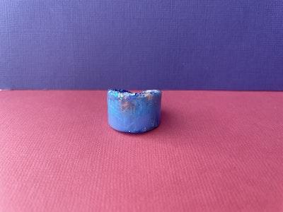 Jeweled Range Cuff Ring-Blue