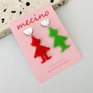 Santa's Little Helpers - Christmas Acrylic Earrings