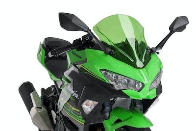 Puig Z-Racing Screen To Suit Kawasaki Ninja 400 2018 - Onwards (Green)