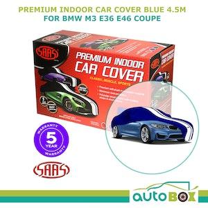 SAAS Medium Indoor Show Car Cover 4.5m Blue Soft suits BMW M3 E36 E46 Coupe