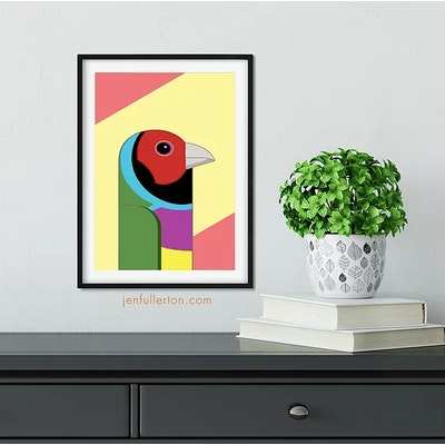 Jen Fullerton Art and Design Gouldian Finch – native Australian bird art