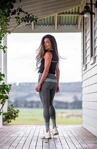 Bare Equestrian Performance Tights-Grey Ice