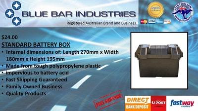Matson Battery Box Small Size 270 x 180 x 195mm