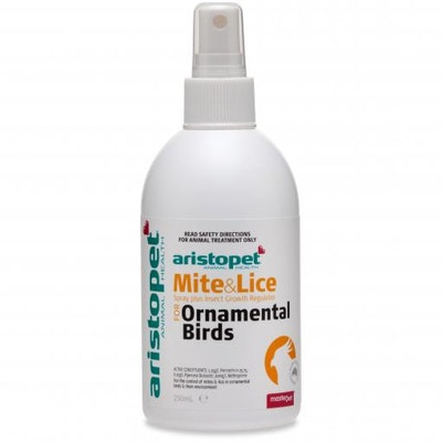 Aristopet Mite and Lice Spray for Ornamental Birds  250ml
