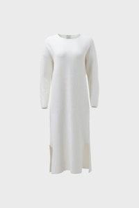 ELK GLENNA KNIT DRESS WHITE