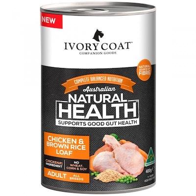 IVORY COAT Chicken & Brown Rice Loaf Wet Dog Food 400g