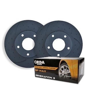DIMPLED SLOTTED REAR BRAKE ROTORS+PADS For Toyota Starlet GT EP82 1.3T 1989-1995