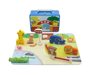 Kaper Kidz ZOO PLAYSET IN TIN CASE