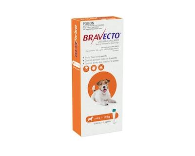 BRAVECTO Spot On for Dogs 4.5-10kg 1 Pack Orange