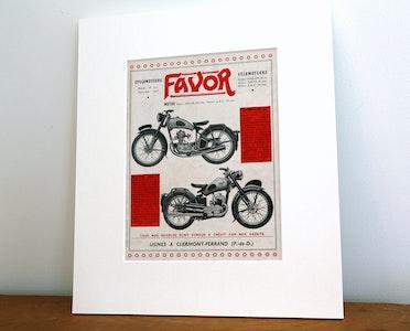 Vintage Favor Motorcycle Advertisement