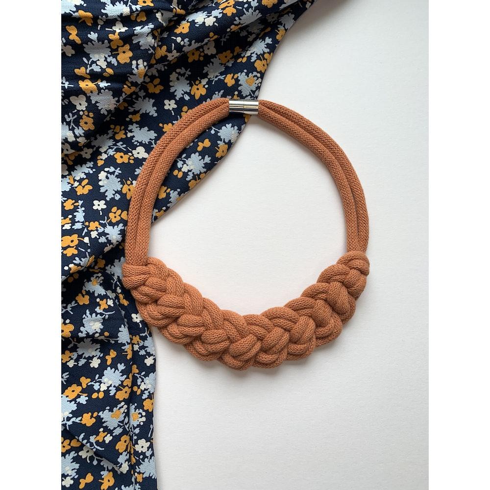 Form Norfolk Loop Knot Necklace In Pumpkin Orange