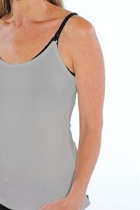 Inspired Mother Nursing Cami Grey Extra-Small