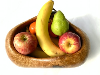 Carved wood bowl