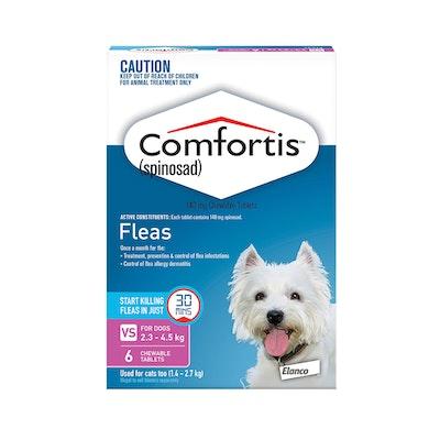 Comfortis Pink Flea Tablets 2.3-4.5kg Dog
