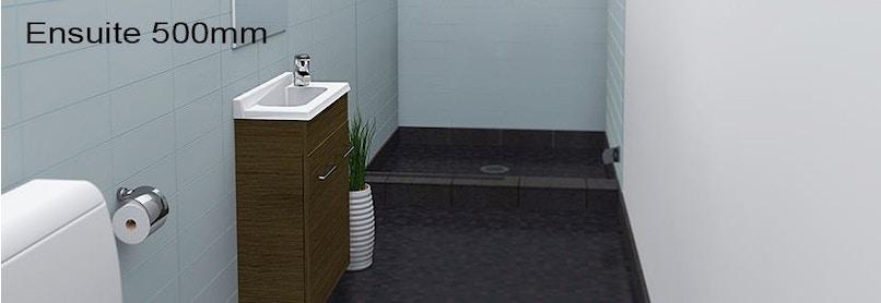 Timberline ensuite 500mm wall hung vanity pre built for Premade bathroom vanities