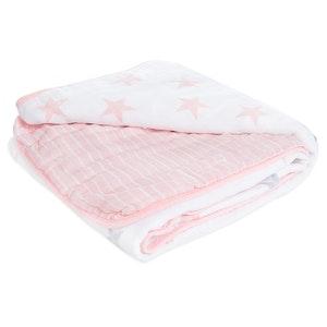 aden doll- stars muslin blanket