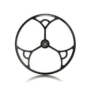 "7"" Metal Tri-Deco Design Grill - Black Contrast Cut"